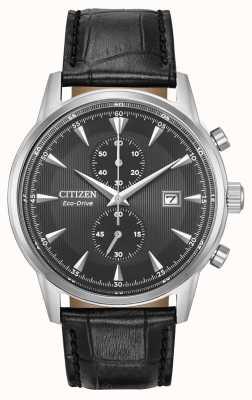 Citizen Cinturino da uomo cronografo nero cinturino in pelle quadrante nero CA7000-04H