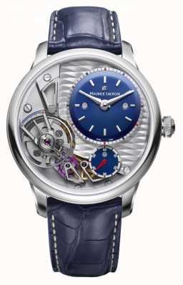 Maurice Lacroix Cinturino in pelle blu da 25 ° anniversario MP6118-SS001-434-1