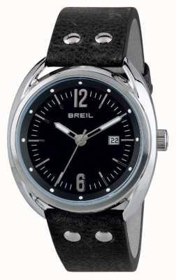 Breil Cinturino nero in acciaio inossidabile con quadrante nero Beaubourg TW1669