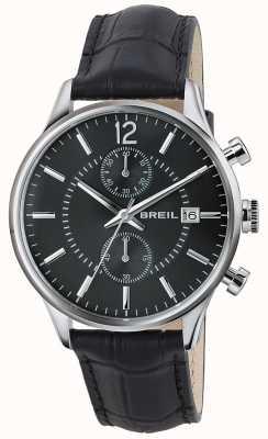 Breil Cinturino cronografo nero Contempo in acciaio inossidabile con quadrante nero TW1572