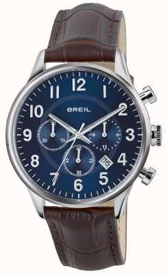 Breil Cinturino cronografo Contempo in acciaio inossidabile con cinturino marrone marrone TW1576