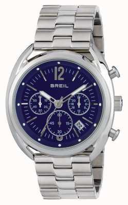 Breil Quadrante blu cronografo in acciaio inossidabile Beaubourg TW1665