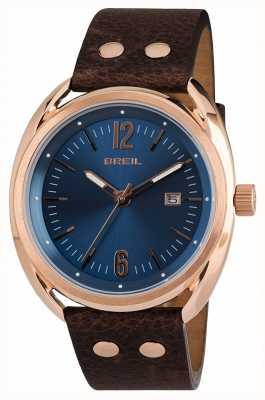 Breil Cinturino marrone marrone ipr quadrante blu Beaubourg TW1673