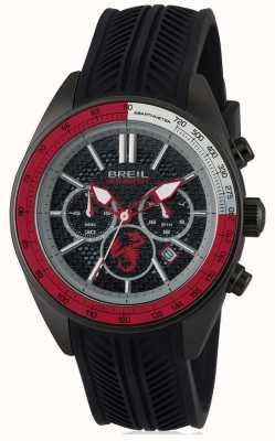 Breil Cronografo Abarth in acciaio inossidabile nero cron nero e rosso dia TW1693