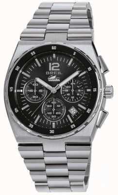 Breil Manta sport cronografo quadrante nero in acciaio inossidabile TW1639