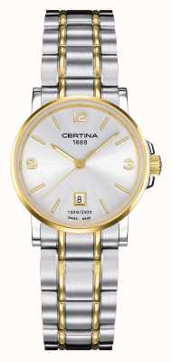 Certina Womens ds caimano orologio bicolore C0172102203700