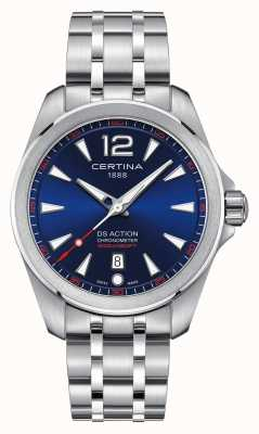 Certina Mens ds action quadrante blu C0328511104700