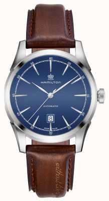 Hamilton Orologio da uomo con quadrante blu automatico H42415541