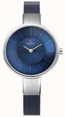 Obaku Womens sol watch maglia blu V149LXCLML