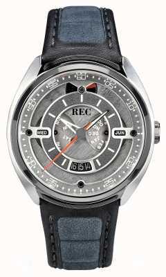 REC Quadrante grigio automatico Porsche in pelle color alcantara grigio p-901-01