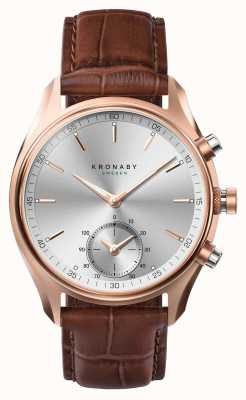 Kronaby 43mm sekel * visto in gq bluetooth rosegold / pelle a1000-2746 S2746/1