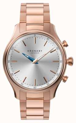 Kronaby 38mm sekel bluetooth oro rosa bracciale in metallo smartwatch A1000-2747