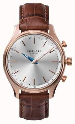 Kronaby Smartwatch con cinturino in pelle color bluetooth in oro rosa 38mm sekel A1000-2748