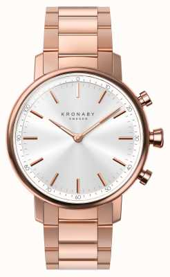 Kronaby Smartwatch con cinturino in oro rosa bluetooth da 38 mm A1000-2446