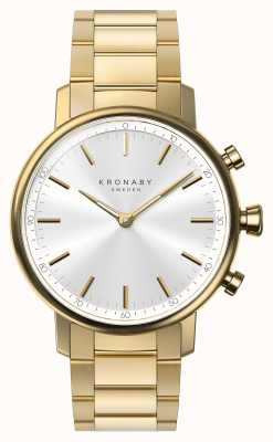 Kronaby Bracciale in oro bluetooth 38mm con quadrante argentato smartwatch A1000-2447
