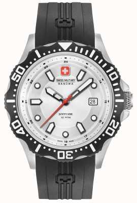 Swiss Military Hanowa Cinturino in silicone nero pattuglia argento quadrante 06-4306.04.001SM