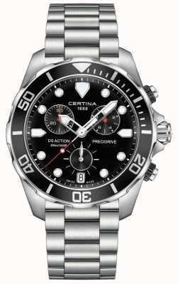 Certina Orologio da uomo cronografo nero cronografo precursore C0324171105100