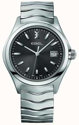 EBEL Quadrante grigio bracciale da uomo in acciaio inossidabile 1216239