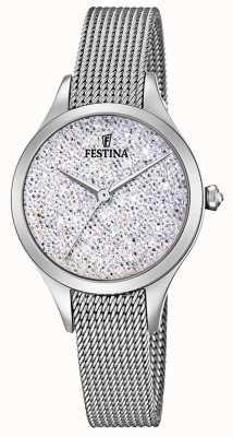 Festina Quadrante swarovski in acciaio inossidabile con mademoiselle da donna F20336/1