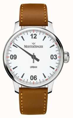 MeisterSinger Quadrante bianco urbano argento opalino UR901