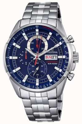 Festina Orologio da uomo cronografo in acciaio inossidabile F6844/3