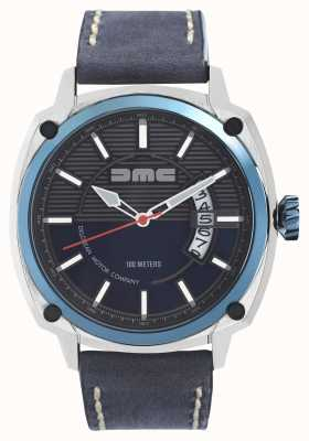 DeLorean Motor Company Watches Quadrante blu blu cinturino in pelle blu dmc blu alpha DMC-2
