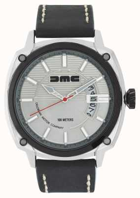 DeLorean Motor Company Watches Cinturino in pelle argentata con quadrante argentato in argento dmc color argento DMC-3