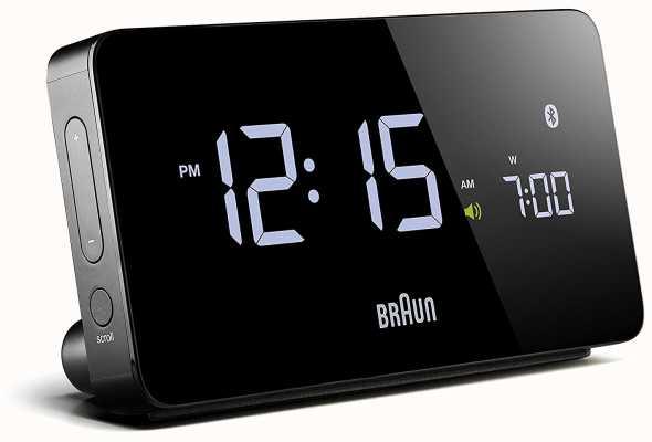 Braun Sveglia bluetooth digitale nera BNC020BK