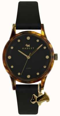 Radley Ciondolo nero da donna con cassa nera 33mm quadrante nero RY2640