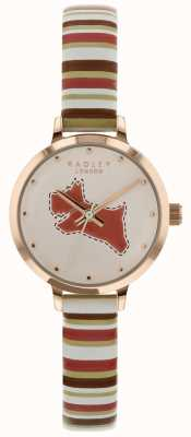 Radley Bracciale per signore 24 mm in gesso / cinturino in pelle color corallo marrone chiaro RY2628