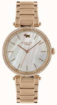 Radley Orologio da donna con quadrante bianco bez al tramonto RY4338
