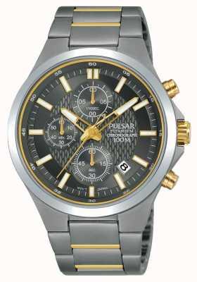 Pulsar Cronografo titanio cronografo bicolore PM3113X1