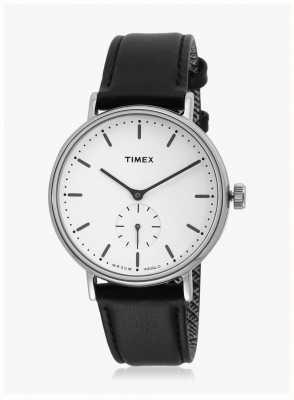 Timex Cinturino in quadrante nero con quadrante bianco di Fairfield TW2R38000