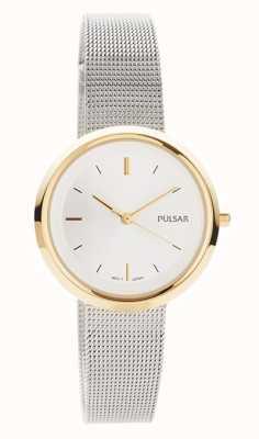 Pulsar Donne | bracciale a maglie in acciaio inossidabile cassa rotonda in oro | PH8386X1