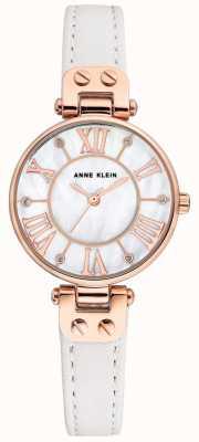 Anne Klein Cinturino in pelle da uomo con cinturino in oro rosa AK/N2718RGWT