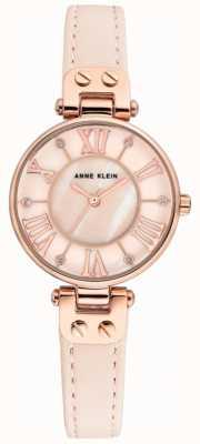 Anne Klein Cinturino in pelle da uomo con cinturino in oro rosa AK/N2718RGPK