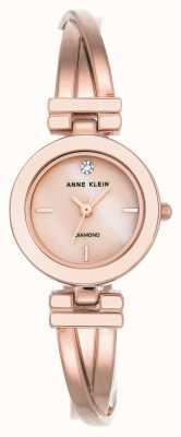 Anne Klein Quadrante bianco da donna con cinturino in oro rosa AK/N2622WTRG