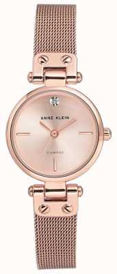 Anne Klein Quadrante e cinturino in maglia oro rosa donna AK/N3002RGRG