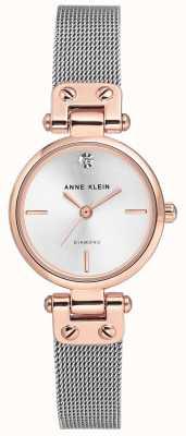 Anne Klein Bracciale e quadrante argentato da donna in argento AK/N3003SVRT