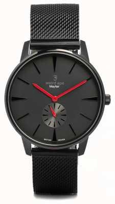Weird Ape Mayfair tutto nero e rosso maglia nera WA02-005615