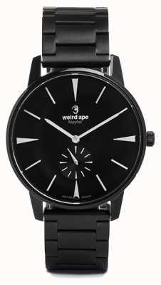 Weird Ape Mayfair quadrante nero bianco marcatori bracciale a maglie nere WA02-005622