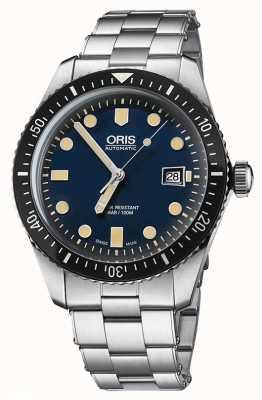 Oris Divers sessantacinque automatico quadrante blu in acciaio inossidabile 01 733 7720 4055-07 8 21 18