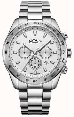 Rotary Bracciale da uomo cronografo henley in acciaio inossidabile GB05115/06