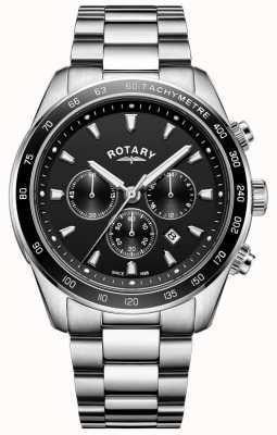 Rotary Cronografo henley in acciaio inossidabile con bracciale da uomo GB05109/04