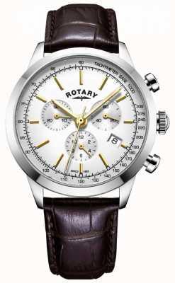 Rotary Orologio da uomo cronografo in pelle Cambridge GS05253/02