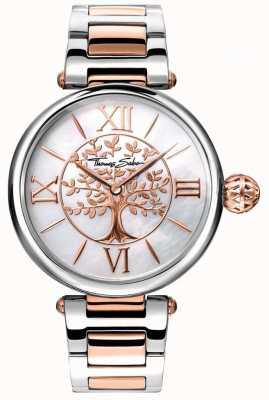 Thomas Sabo Orologio da donna glam e soul in oro rosa e argento WA0315-272-213-38