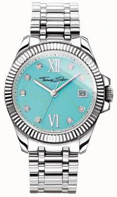 Thomas Sabo Quadrante turchese dell'orologio donna glam and soul divine WA0317-201-215-33