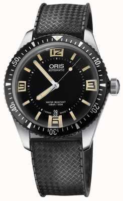 Oris Divers sessantacinque cinturino automatico con cinturino in gomma nera 01 733 7707 4064-07 4 20 18