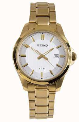 Seiko Quadrante bianco con quadrante dell'orologio da uomo SUR248P1