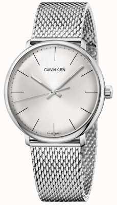 Calvin Klein Orologio da uomo in maglia di acciaio inossidabile a mezzogiorno K8M21126